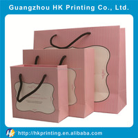 custom luxury different sizes paper shopping bag