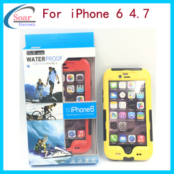 PC Plastic with screen protective waterproof bag case cover for iPhone 6