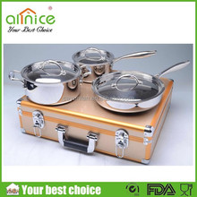 18/8 stainless steel cookware for induction cookers/304 cookware set/professional stainless steel cookware