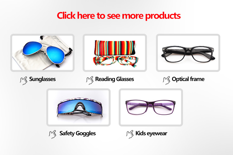 Good quality colorful plastic tube reading glasses with case