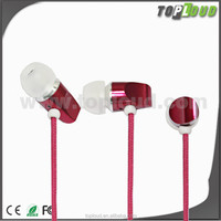 hands free in-ear earphone with mic for all mobile phone mp3/4 player computer laptop