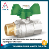 TMOK DN15 M*F water flow control brass ball valve with blasting plating CW617n nickel-plated new bonnet high pressure