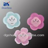 flower smiling plain embroidery patches