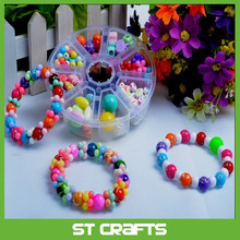 Hot selling jewelry with handmade DIY multicolor beads for jewellery making , plastic perler beads with cheapest price