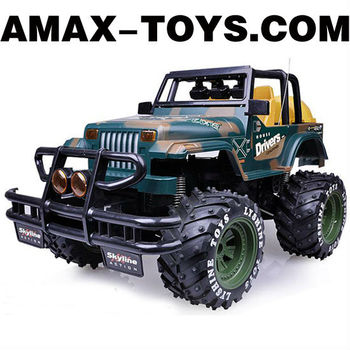 rj-0583033 4ch rc jeep Emulational Remote Control Off-road Jeep with Shock Absorptions