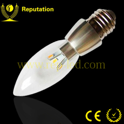 High brightness 3W led buld candel e27 light for 2 years warranty