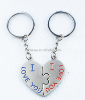 Asia China Factory Wholesale Custom Metal couple keychain