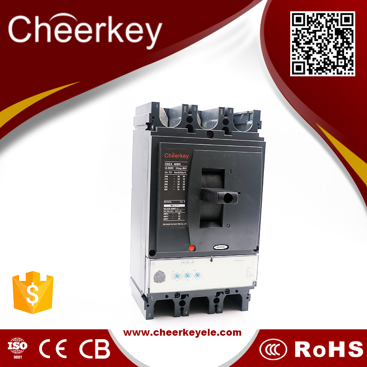 Zhejiang Cheerkey NSX 400N 400A moulded case circuit breaker for overload protector