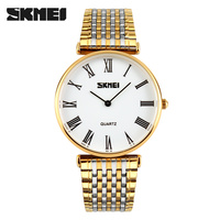famous brand watches own brand woman gold watches 2015 skmei couple watches