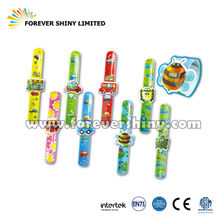 Promotion Children Kids Small Capsules Toys Cartoon Plastic Wrist Slap Watch Band for Vending Machines