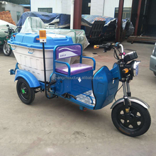 New Design Electric Three Wheel Cleaning Tricycle For Garbage Green Energy