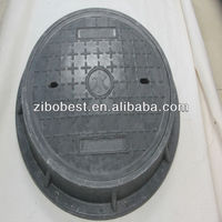 EN124 C250 600mm SMC anti theft manhole cover with frame