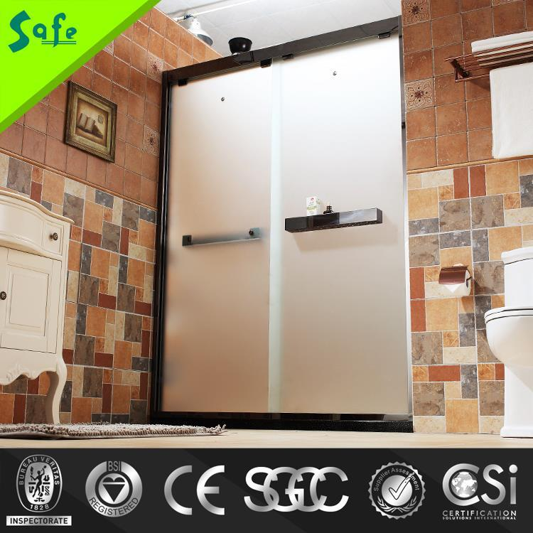 Safe Stainless Steel Sliding bath shower Shower Screen