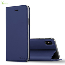 ultra slim leather cover for apple iphone x cell phhone case pu flip wallet case