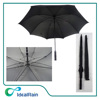30 inch auto open strong windproof fiberglass big black golf umbrella with bags