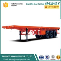 Transportation 40ft Flatbed Container Trailer