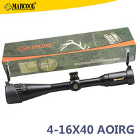 Marcool 4-16x40 AOIRG Air Gun Telescopic Waterfowl Hunting Rifle Sights Scope