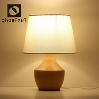 Modern vintage fancy style carving wood indoor interior decorative table lamp