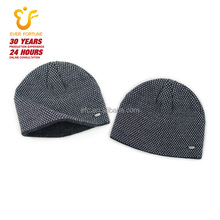 Promotional low price plain knitted beanie/winter hats for cheap price