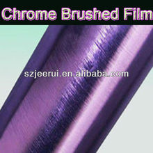 High Quality Color Changing Folie,Chrome Brushed Gold Metalized Film, Auto Tuning Car Wraps 1.52*30m