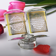 Wholesale Muslim Gifts Quran Book Mini Islamic Crystal Wedding Gift