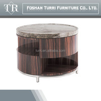 modern luxury furniture Iran marble travertine small round table