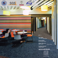 ST5, carpet tile with cushion backing for office, non woven backing modular tile carpet