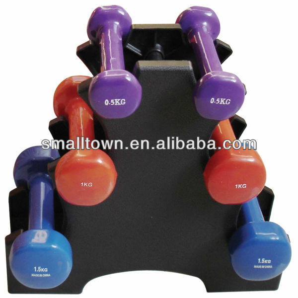 6-12kg vinyl dipping dumbbell set/equipment fitness