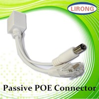 Passive 12V PoE Injector with cat5 cable