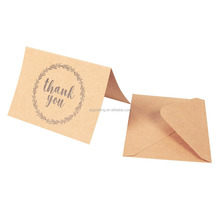 Eco-friendly handwritten brown kraft paper Thank You note gift cards