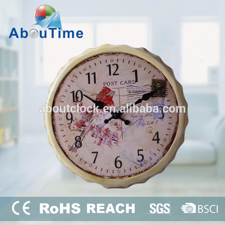 Retro Wall Decorative Metal Clock for Pub