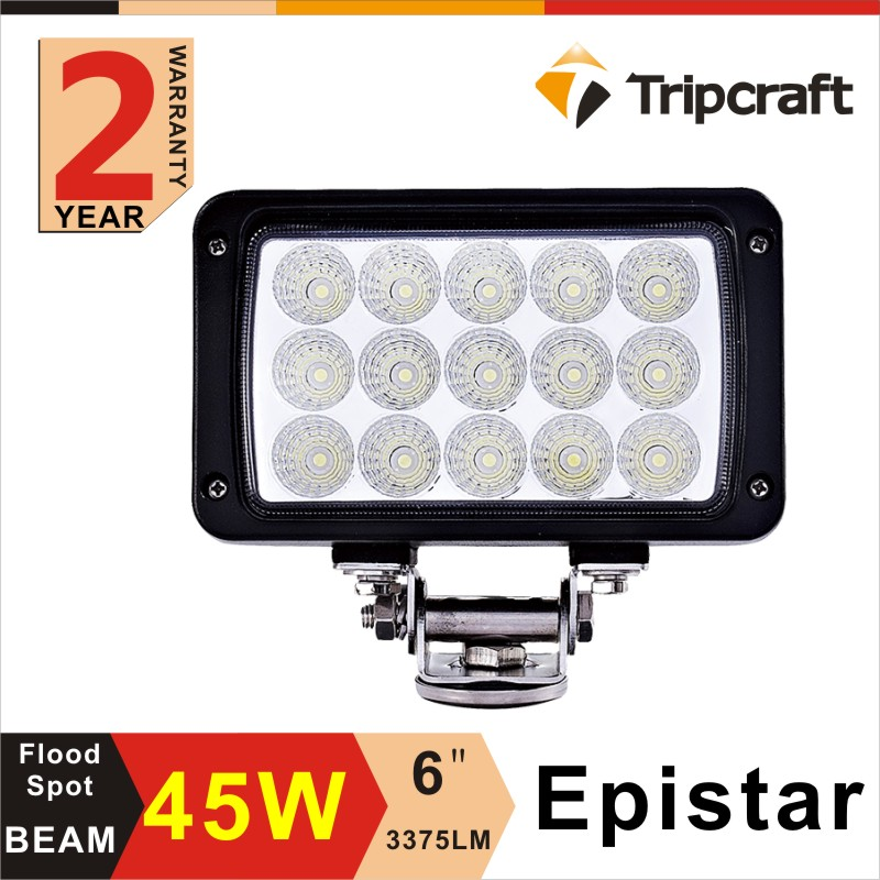 10-30v DC Spot/Flood 45W led work light with waterproof led flexible work light