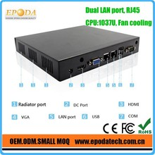Fanless Mini PC with COM & Dual LAN Ports C1037U Dual Core USB3.0 with Best Price