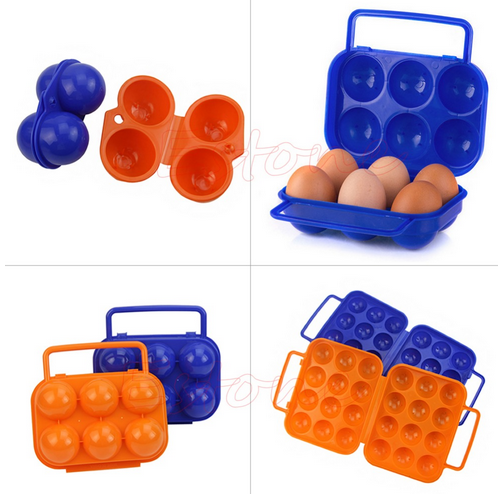 Hot Portable Carry 2/6/12 Eggs Container Holder Storage Box Case Folding Plastic