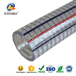 high pressure PVC spiral flexible hose spray reinforced water hose steel wire hose pipe
