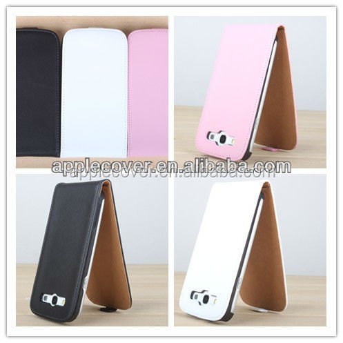 Hot Selling!! Genuine Flip Leather Case for Samsung Galaxy S3 i9300 , for Samsung Galaxy S3 case cover leather