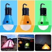 2017 new cute Waterproof Portable 3 LED Mini Tent Light Outdoor Camping Lantern Lamp