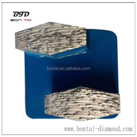 Fuzhou Bontai Redi lock system grinding diamonds metal grinding segments grits coarse,medium, fine