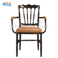 HS-2114 wholesale aluminum wedding tiffany chair napoleon chair with armrest