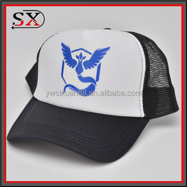 2016 New pokemon go team hats 5 panels trucker mesh cap