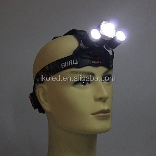 New 3xCREE XM-L XML T6 4 Modes LED 5000Lm Rechargeable Headlamp Headlight Head <strong>lamp</strong> + AC Charger
