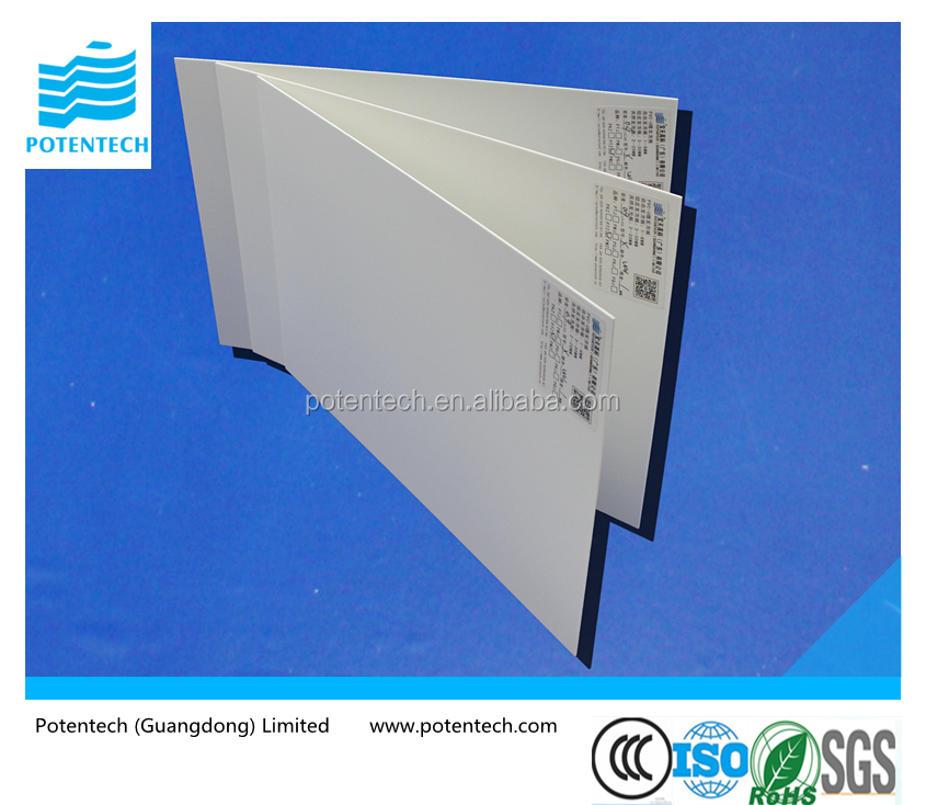 Lightweight 1-6mm White solid pvc foam board For Sign