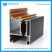 High quality aluminium extruded profiles 6063 t5 for glass doors and windows with powder coating finish
