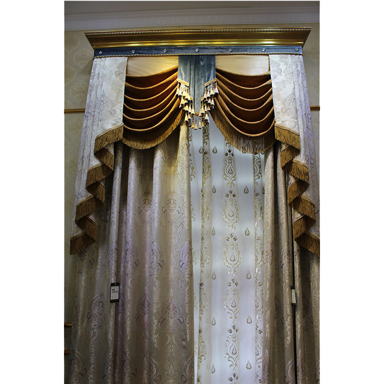 Elegant classic ready made custom curtains made in china