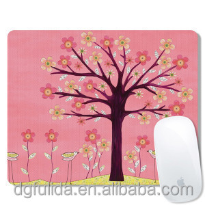 DIY small size mosue pad custom natural rubber with fabric mouse pad