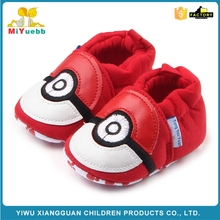 Hot selling red soft sole cotton baby crib booties shoes
