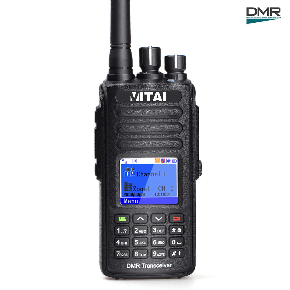 Military Walkie Talkie VITAI VDG-585 VHF/UHF 5W 1000CH GPS Function IP67 Waterproof Mototrbo Tier 1&2 DMR Digital Radio