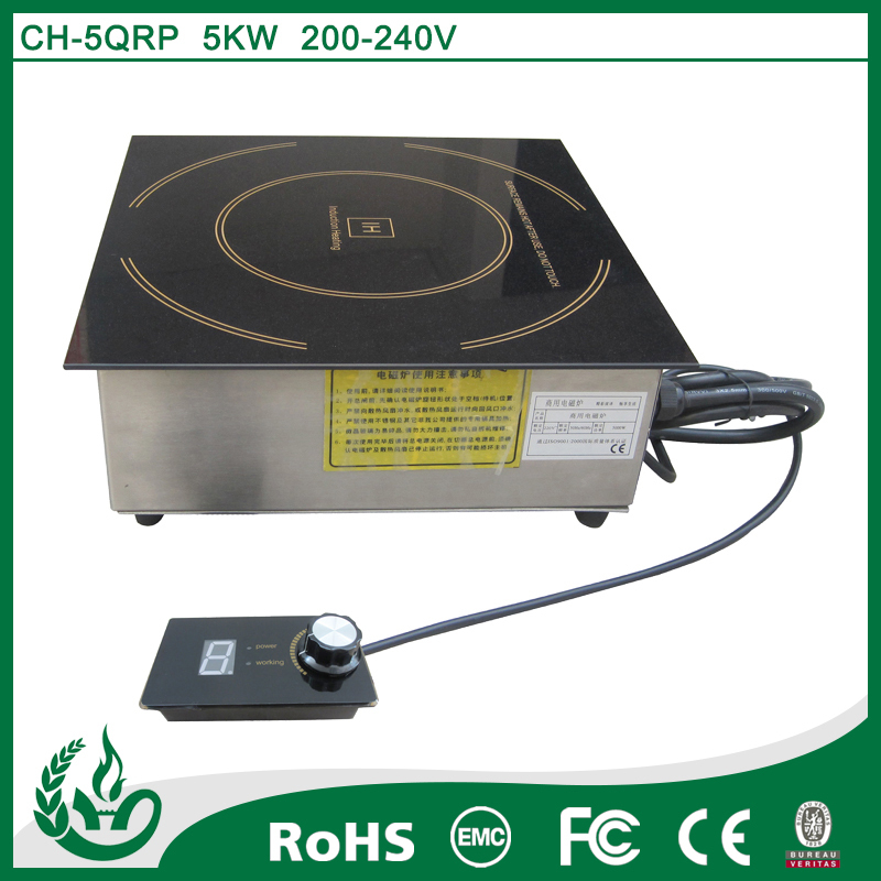 Embedded flat induction stove