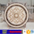 Light and dark emperador medallion marble
