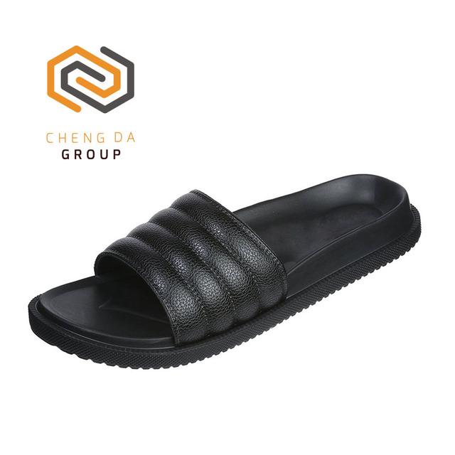 Latest Style Cheap Wholesale Bathroom Slippers Custom Logo Men Slide Sandals
